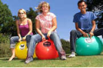 Garden games - LaughandPlayOutdoors - Hopping Mad on a  Space Hopper