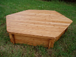 Sand Pit Wooden Lid for Hexagonal Sand Box