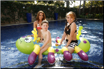 Inflatable Caterpillar Pool Ride On