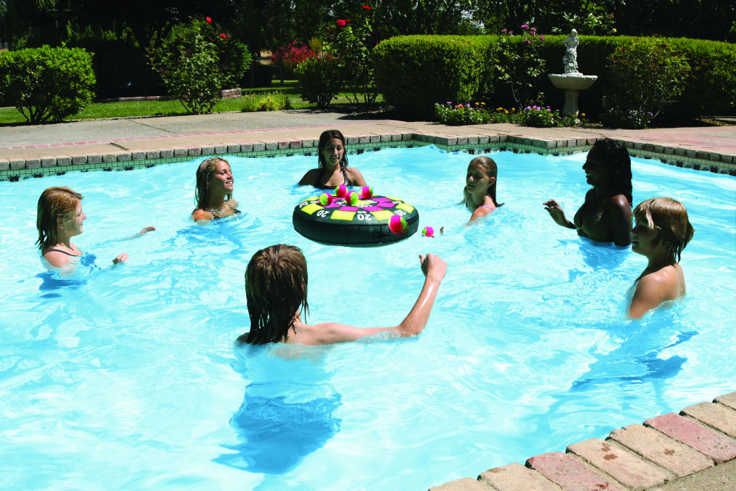 Inflatable dartball floating swimming pool game for Swimming pools target australia