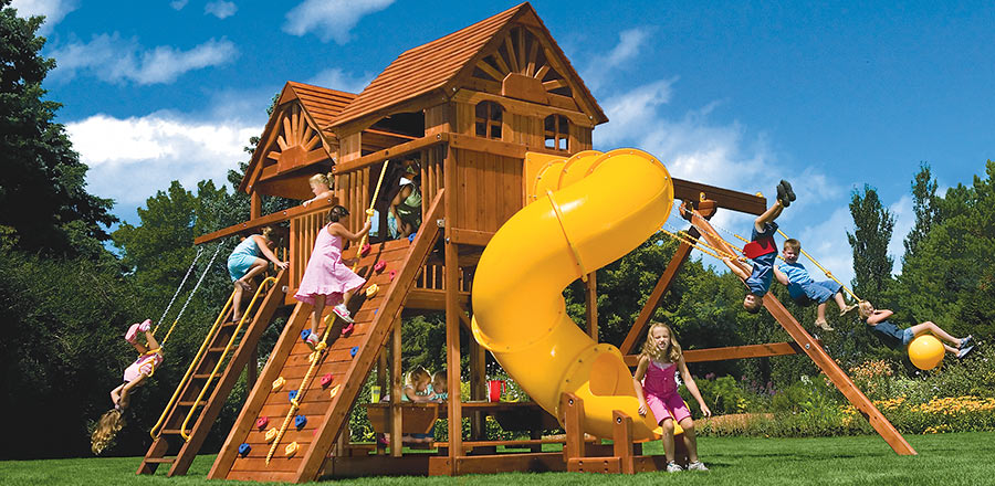 Cubby House With Slide And Swings 28 Images Wooden