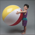 Giant beach balls for outdoor play at Laugh and Play outdoors